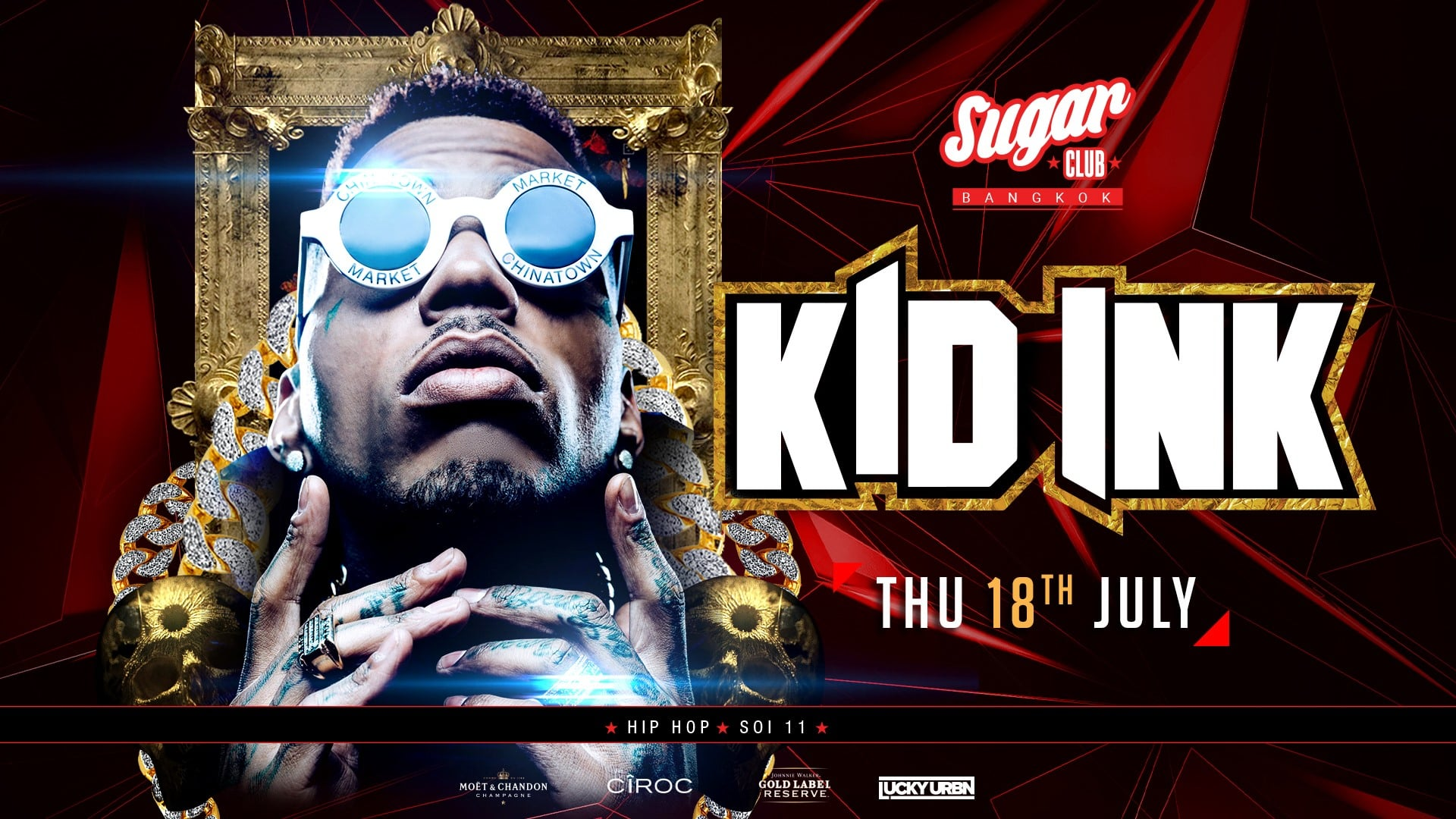 Kid Ink Tour 2020 18 Jul 19]Sugar Club Bangkok Presents Kid Ink!   Clubbing Thailand